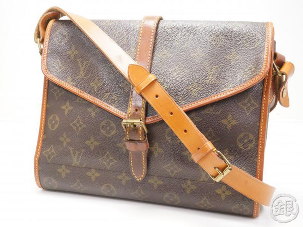 AUTH PRE-OWNED LOUIS VUITTON VINTAGE MONOGRAM PORTABLE SERVIETTE PLIANTE CROSSBODY BAG No.230 172071