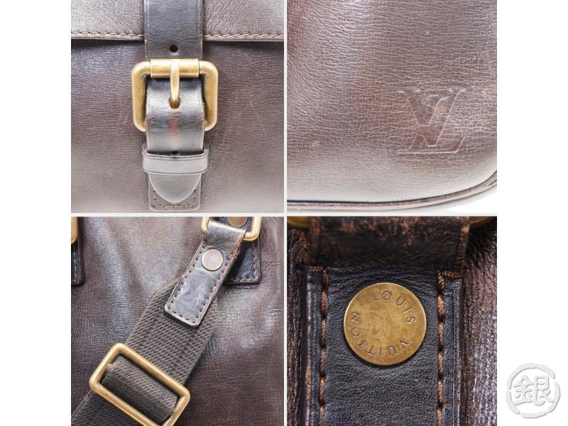 AUTHENTIC PRE-OWNED LOUIS VUITTON  UTAH LEATHER BROWN IROQUOIS MESSENGER CROSSBODY BAG M92534 172247