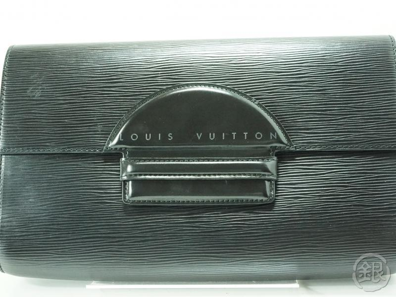 AUTHENTIC PRE-OWNED LOUIS VUITTON LV EPI BLACK NOIR POCHETTE CHAILLOT GM CLUTCH BAG M52532 141092