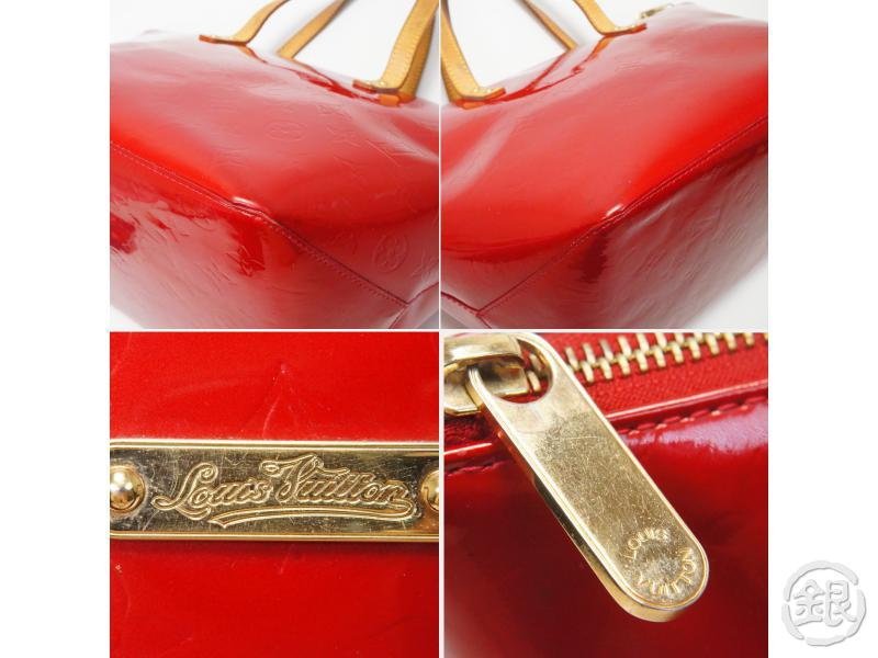 AUTHENTIC PRE-OWNED LOUIS VUITTON VERNIS POMME D'AMOUR RED BELLEVUE PM HAND TOTE BAG M93583 172308
