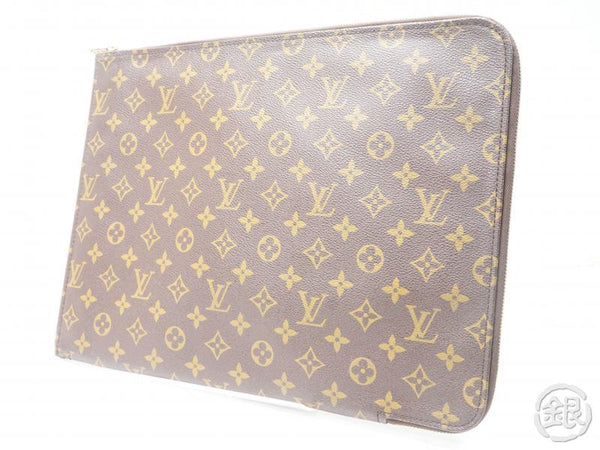 AUTHENTIC PRE-OWNED LOUIS VUITTON MONOGRAM POCHE DOCUMENTS PORTFOLIO GM DOCUMENT CASE M53456 172181