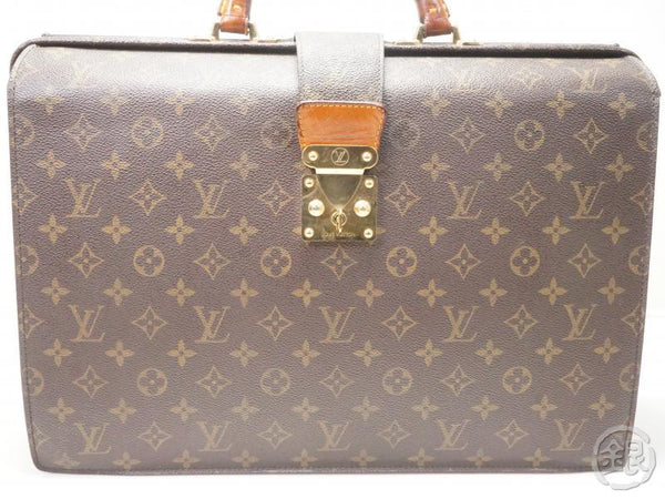 AUTHENTIC PRE-OWNED LOUIS VUITTON MONOGRAM SERVIETTE FERMOIR BRIEFCASE HAND BAG M53305 171728