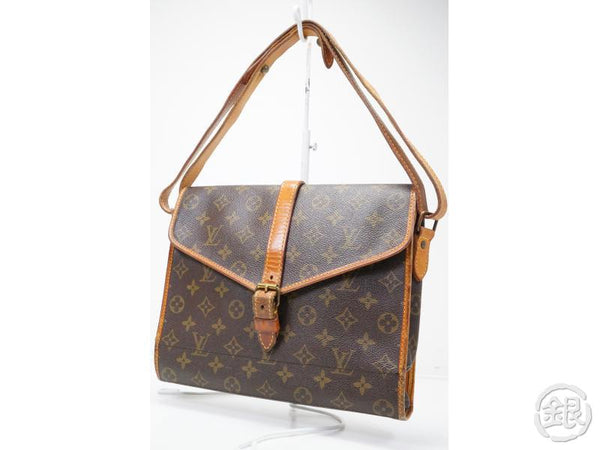 AUTHENTIC PRE-OWNED LOUIS VUITTON VINTAGE MONOGRAM PORTABLE SERVIETTE PLIANTE BAG No. 230 172259