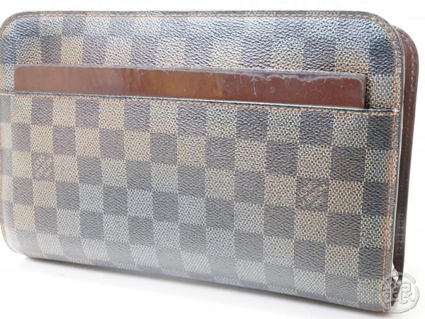 AUTHENTIC PRE-OWNED LOUIS VUITTON DAMIER EBENE SAINT LOUIS CLUTCH BAG POUCH N51993 172759