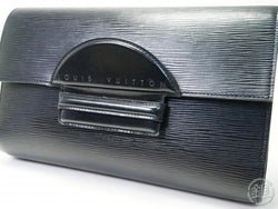 AUTHENTIC PRE-OWNED LOUIS VUITTON LV EPI BLACK NOIR POCHETTE CHAILLOT GM CLUTCH BAG M52532 180313