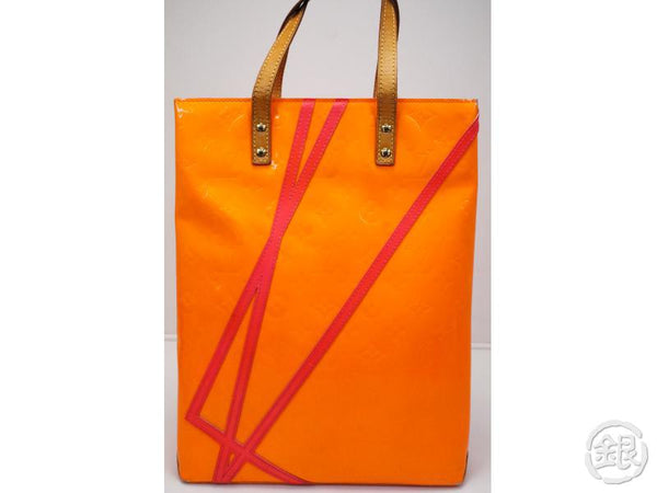 AUTHENTIC PRE-OWNED LOUIS VUITTON VERNIS LIMITED ROBERT WILSON FLUO ORANGE READE MM M91902 172520