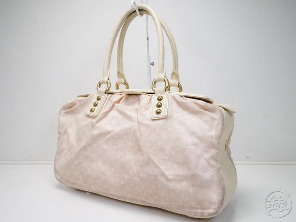 AUTHENTIC PRE-OWNED LOUIS VUITTON MONOGRAM MINI LIN ROSE TRAPEZE GM HAND BAG DUFFLE M40064 180427