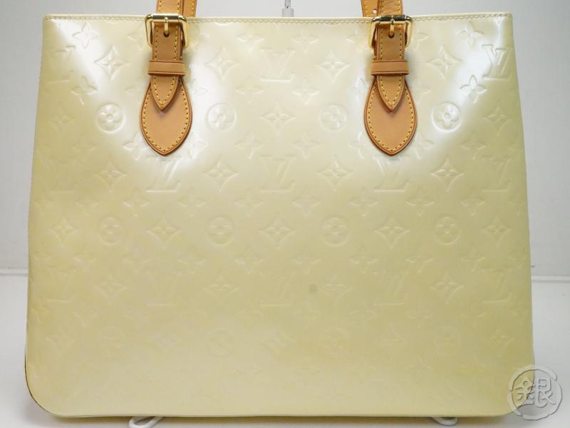 AUTHENTIC PRE-OWNED LOUIS VUITTON VERNIS PERLE BRENTWOOD SHOULDER TOTE BAG M91512 172543