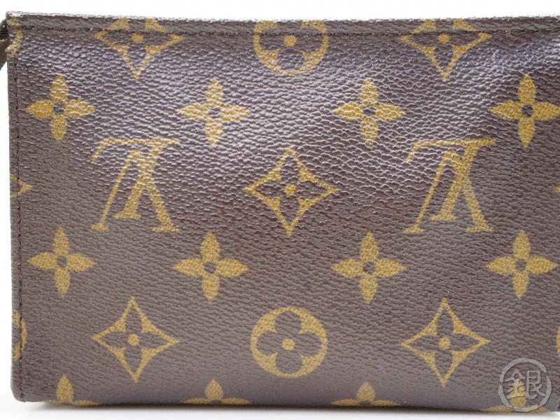 AUTHENTIC PRE-OWNED LOUIS VUITTON MONOGRAM POCHE TOILETTE 15 COSMETIC POUCH BAG PURSE M47546 172504