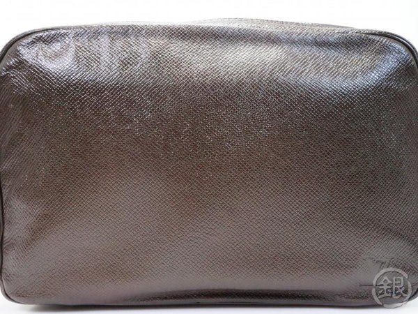 AUTHENTIC PRE-OWNED LOUIS VUITTON TAIGA GRIZZLI GRIZZLY TROUSSE TOILETTE GM CLUTCH BAG M30218 180463