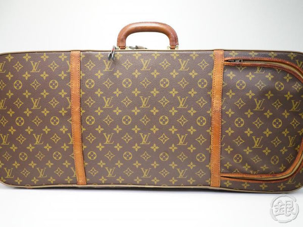 AUTHENTIC PRE-OWNED LOUIS VUITTON VINTAGE MONOGRAM VALISE TENNIS LUGGAGE RACKET CASE No. 90 180695
