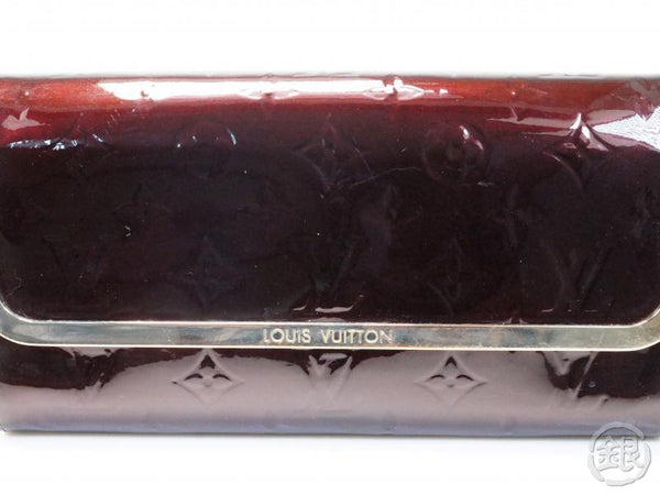 AUTHENTIC PRE-OWNED LOUIS VUITTON VERNIS AMARANTE POCHETTE ROSSMORE MM 2WAY CLUTCH BAG M91549 180686