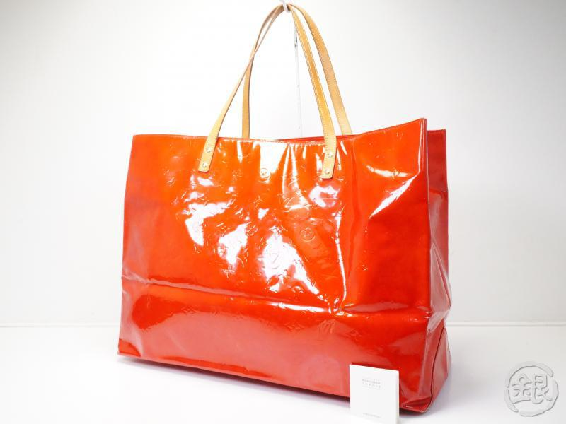 AUTHENTIC PRE-OWNED LOUIS VUITTON VERNIS ROUGE READE GM BIG SHOULDER TOTE BAG M91084 180818