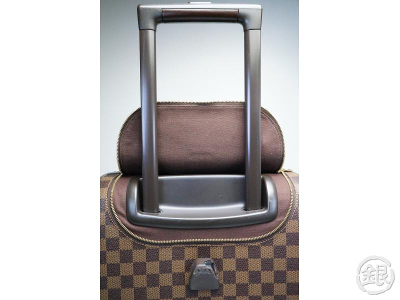 AUTHENTIC PRE-OWNED LOUIS VUITTON DAMMIER EBENE EOLE 50 DUFFLE BAG WITH WHEELS 3-WAY TROLLEY BAG N23205