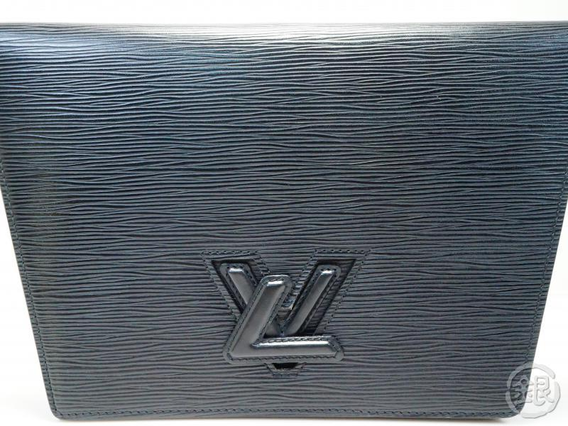 AUTHENTIC PRE-OWNED LOUIS VUITTON LV EPI BLACK NOIR POCHETTE TRAPEZE CLUTCH BAG M80166 181104