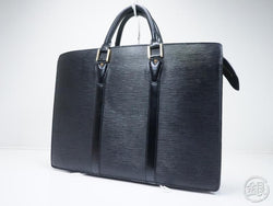 AUTHENTIC PRE-OWNED LOUIS VUITTON EPI SPECIAL ORDERED BLACK PORTE-DOCUMENTS LOZAN BREIFCASE 160597