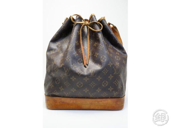 AUTHENTIC PRE-OWNED LOUIS VUITTON VINTAGE MONOGRAM NOE SHOULDER WINE BAG DRAWSTRING M42224 181332