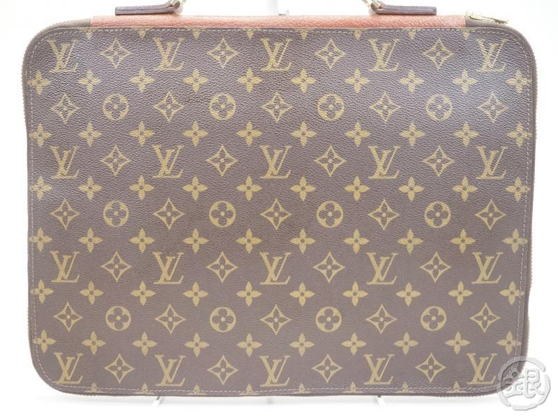 AUTHENTIC PRE-OWNED LOUIS VUITTON MONOGRAM VINTAGE POCHE DOCUMENTS POIGNEE HAND DOCUMENT CASE No.52