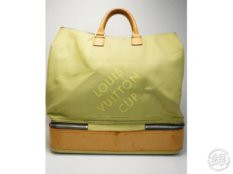 a5b89741d3a9 AUTHENTIC PRE-OWNED LOUIS VUITTON CUP LIMITED EDITION 2003 DAMIER GEANT  LIMEGREEN SOUTHERN CROSS LARGE