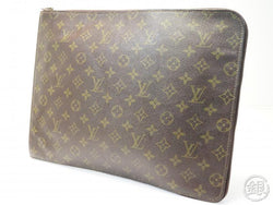 AUTHENTIC PRE-OWNED LOUIS VUITTON VINTAGE MONOGRAM POCHE DOCUMENTS PORTFOLIO GM DOCUMENT CASE M53456
