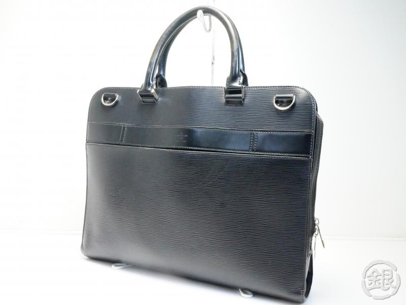 AUTHENTIC PRE-OWNED LOUIS VUITTON LV EPI BLACK BASSANO MM HAND BAG BRIEFCASE M54032 181587