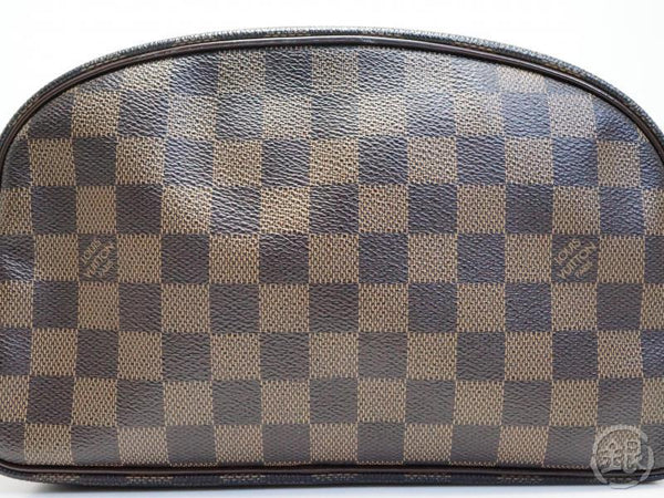authentic pre-owned louis vuitton damier trousse toilette cosmetic pouch clutch bag n47624 181659