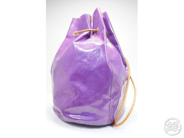 AUTHENTIC PRE-OWNED LOUIS VUITTON VERNIS VIOLET PURPLE MORTON BACKPACK SHOULDER BAG M91083 150925