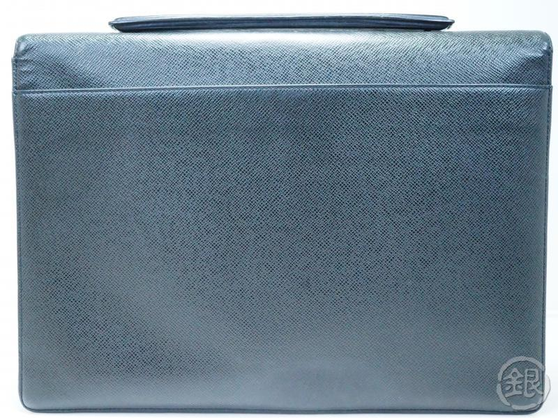 AUTHENTIC PRE-OWNED LOUIS VUITTON TAIGA ARDOISE BLACK PORTE-DOCUMENTS ANGARA BRIEFCASE M30772 180793