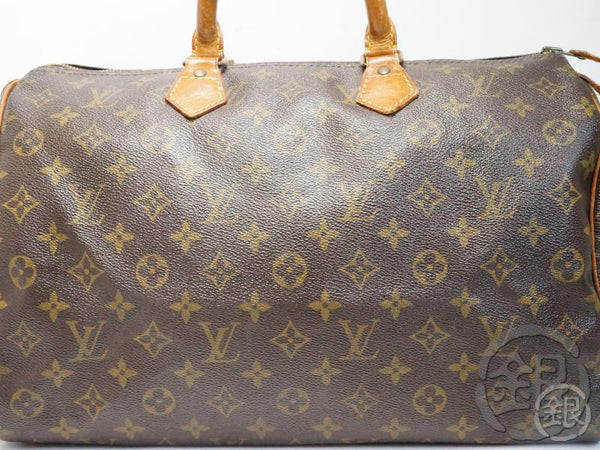 AUTHENTIC PRE-OWNED LOUIS VUITTON LV MONOGRAM SPEEDY 35 BOSTON HAND BAG PURSE M41524 181741