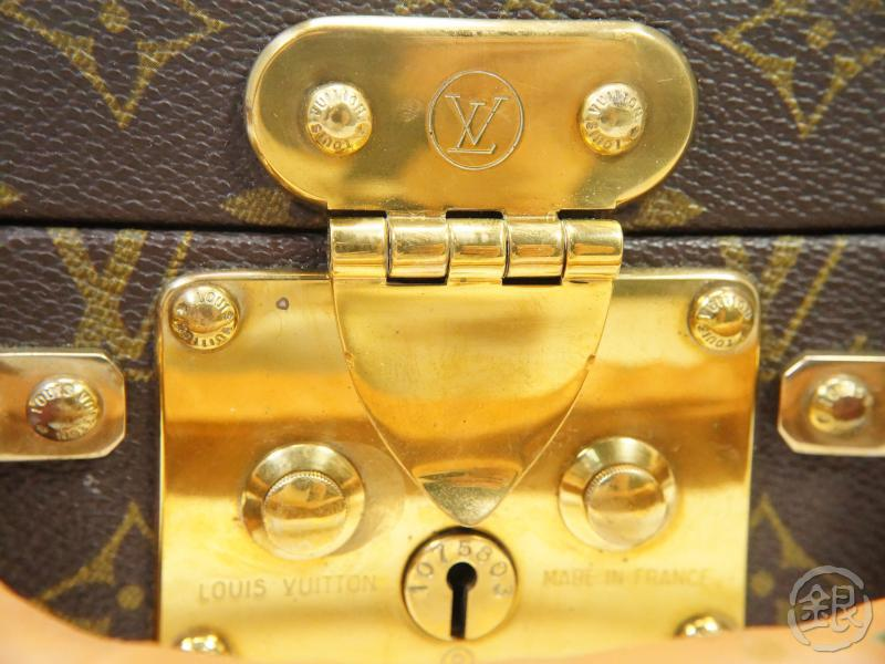 AUTHENTIC PRE-OWNED LOUIS VUITTON VINTAGE MONOGRAM BOITE BIJOUX JEWELRY CASE TRUNK BAG No.93 150594