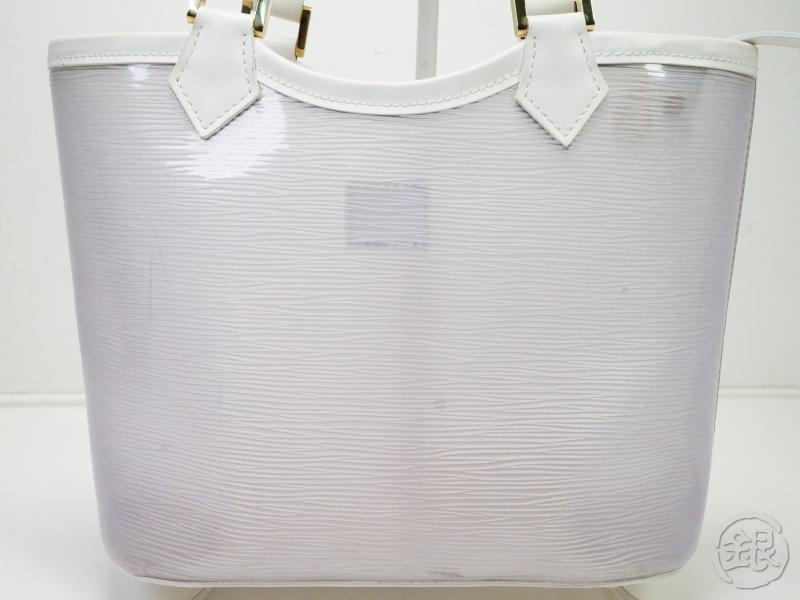 AUTHENTIC PRE-OWNED LOUIS VUITTON EPI PLAGE COCONUT WHITE MINI LAGOON BAY TOTE BAG M92263 181831