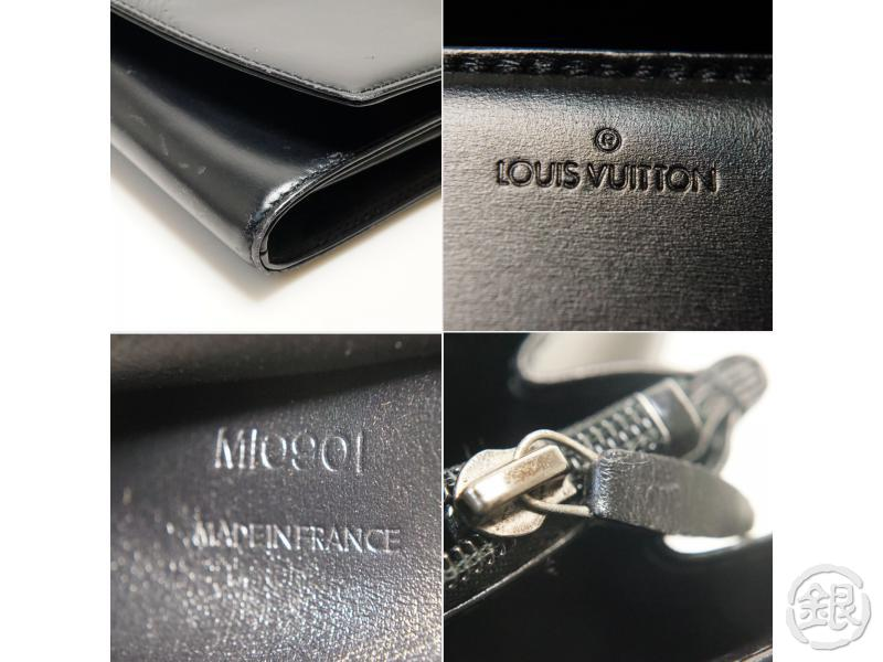 AUTHENTIC PRE-OWNED LOUIS VUITTON CUIR OPERA PARTIAL GRAIN LEATHER NOIR POCHETTE EGEE M63962 181810