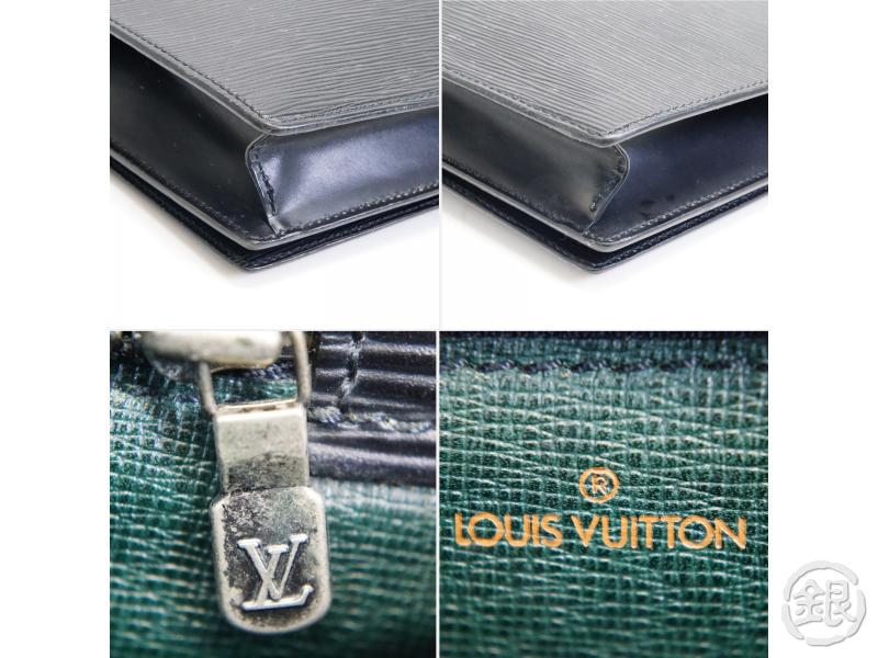 AUTHENTIC PRE-OWNED LOUIS VUITTON EPI BLACK NOIR POCHETTE TRAPEZE GM CLUTCH BAG PURSE M80165 170423