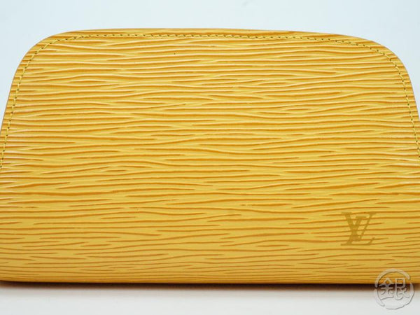 AUTHENTIC PRE-OWNED LOUIS VUITTON  EPI TASSILI YELLOW DAUPHINE PM COSMETIC POUCH BAG M48449 181976
