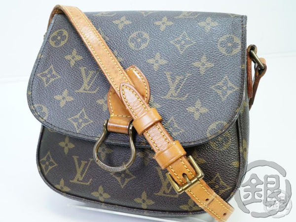 authentic pre-owned louis vuitton lv monogram vintage saint-cloud mm crossbody bag m51243 182163