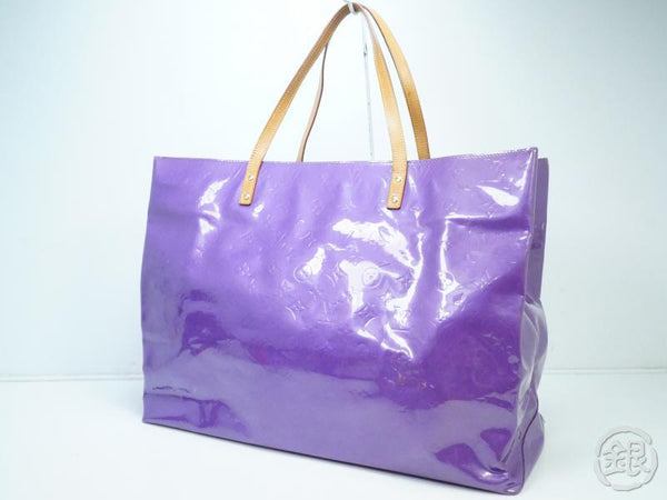 AUTHENTIC PRE-OWNED LOUIS VUITTON VERNIS VIOLET PURPLE READE GM BIG SHOULDER TOTE BAG M91085 181999