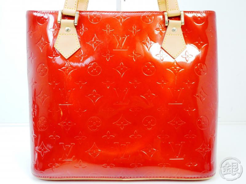 AUTHENTIC PRE-OWNED LOUIS VUITTON VERNIS POMME D'AMOUR RED HOUSTON SHOULDER TOTE BAG M91385 182000