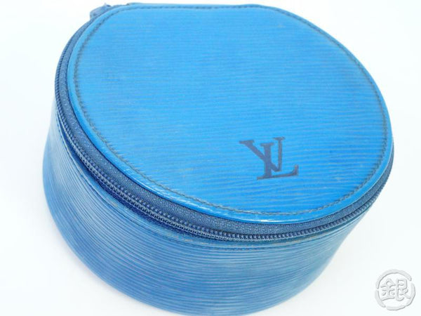 AUTHENTIC PRE-OWNED LOUIS VUITTON EPI TOLEDO BLUE ECRIN BIJOUX GM JEWELRY CASE BOX M48205 181946