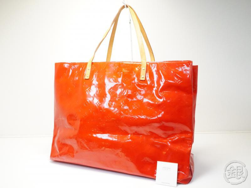 AUTHENTIC PRE-OWNED LOUIS VUITTON VERNIS ROUGE READE GM BIG SHOULDER TOTE BAG M91084 181049