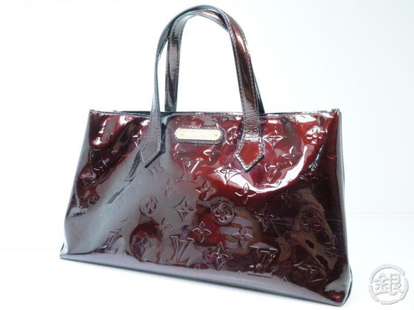 AUTHENTIC PRE-OWNED LOUIS VUITTON VERNIS AMARANTE WILSHIRE BOULEVARD PM HAND TOTE BAG M93641 182436