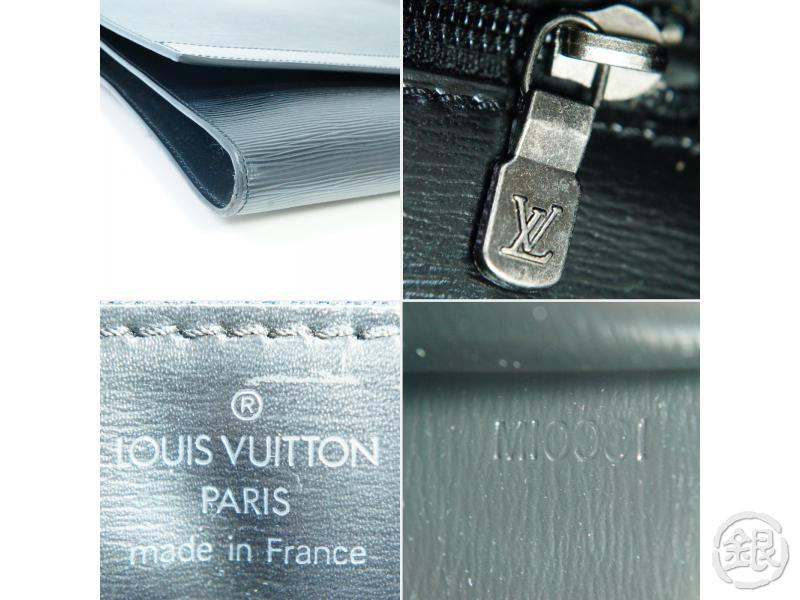 AUTHENTIC PRE-OWNED LOUIS VUITTON EPI BLACK POCHETTE ENVELOPPE DOCUMENT CASE BAG M52582 182334