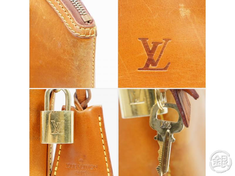 AUTHENTIC PRE-OWNED LOUIS VUITTON NOMADE VACHETTA LEATHER CARAMEL LOCKIT HAND TOTE BAG M85388 190176