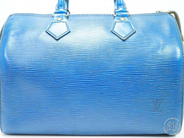 AUTHENTIC PRE-OWNED LOUIS VUITTON EPI TOLEDO BLUE SPEEDY 25 DUFFLE HAND BAG PURSE M43015 190216