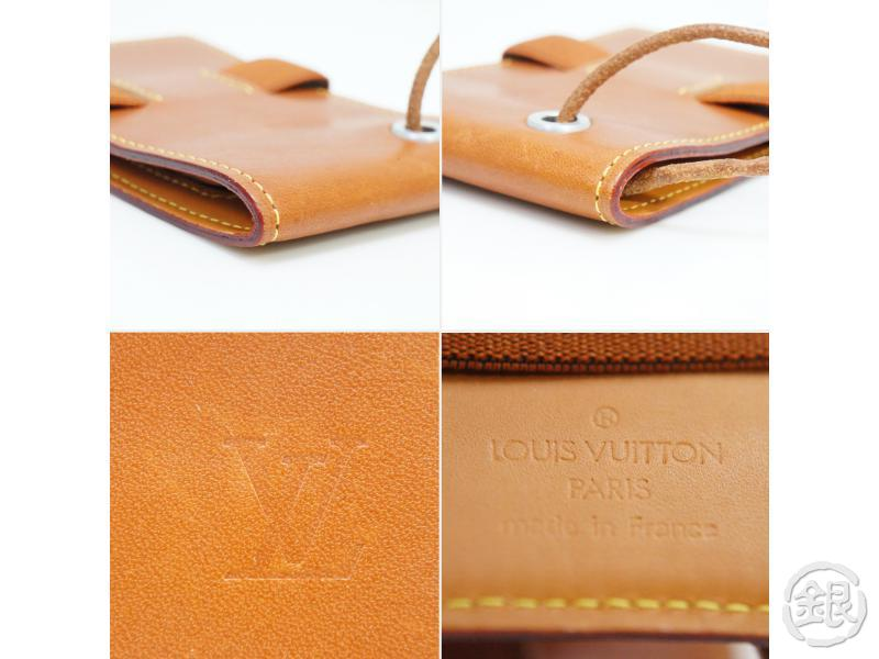 AUTHENTIC PRE-OWNED LOUIS VUITTON VIP LIMITED NOVELTY NOMADE CARAMEL PASS CASE w/ NECK STRAP 190210
