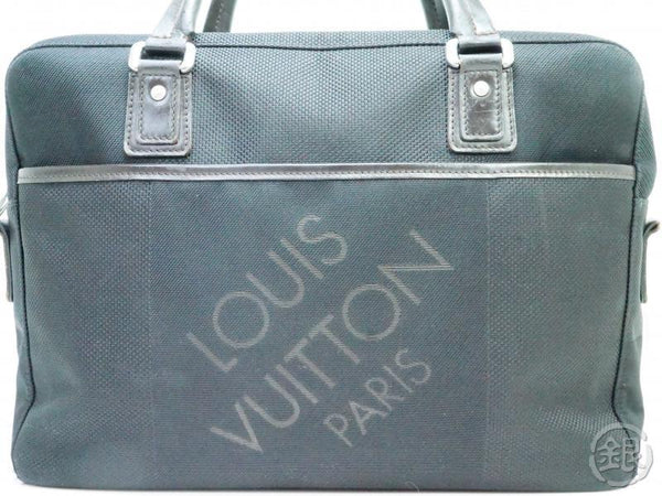 AUTHENTIC PRE-OWNED LOUIS VUITTON DAMIER GEANT NOIR BLACK YACK HAND BAG BRIEFCASE M93082 190180