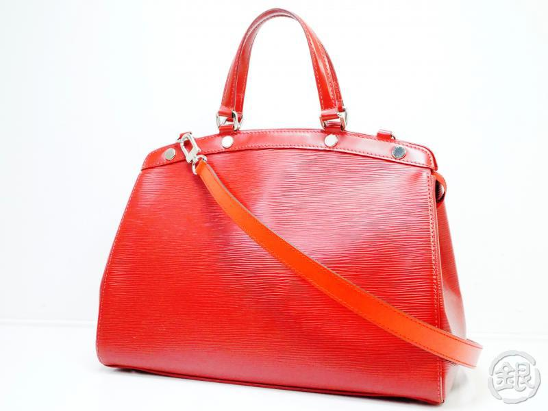 AUTHENTIC PRE-OWNED LOUIS VUITTON EPI CARMIN RED BREA MM 2-WAY HAND TOTE BAG Strap M4030E 150475