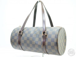 2fd9970f36aa AUTHENTIC PRE-OWNED LOUIS VUITTON DAMIER EBENE PAPILLON 26 BARREL BAG PURSE  N51304 190268
