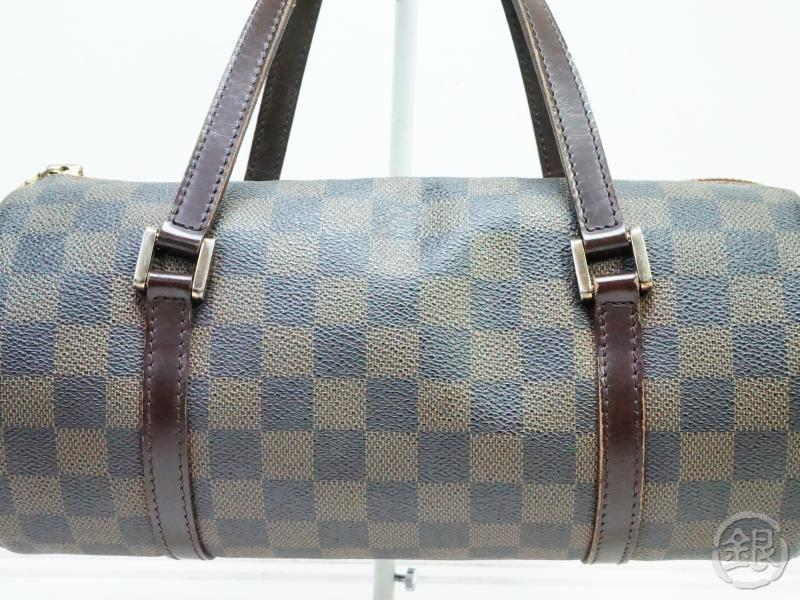 AUTHENTIC PRE-OWNED LOUIS VUITTON DAMIER EBENE PAPILLON 26 BARREL BAG PURSE N51304 190268