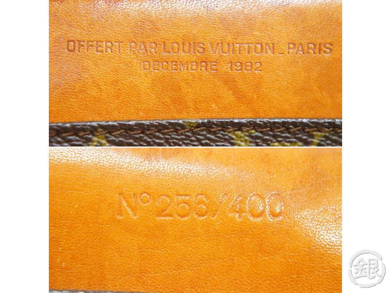 AUTHENTIC PRE-OWNED LOUIS VUITTON 1982 LIMITED TO 400 MONOGRAM NOMADE DOCUMENT CASE CLUTCH 190090