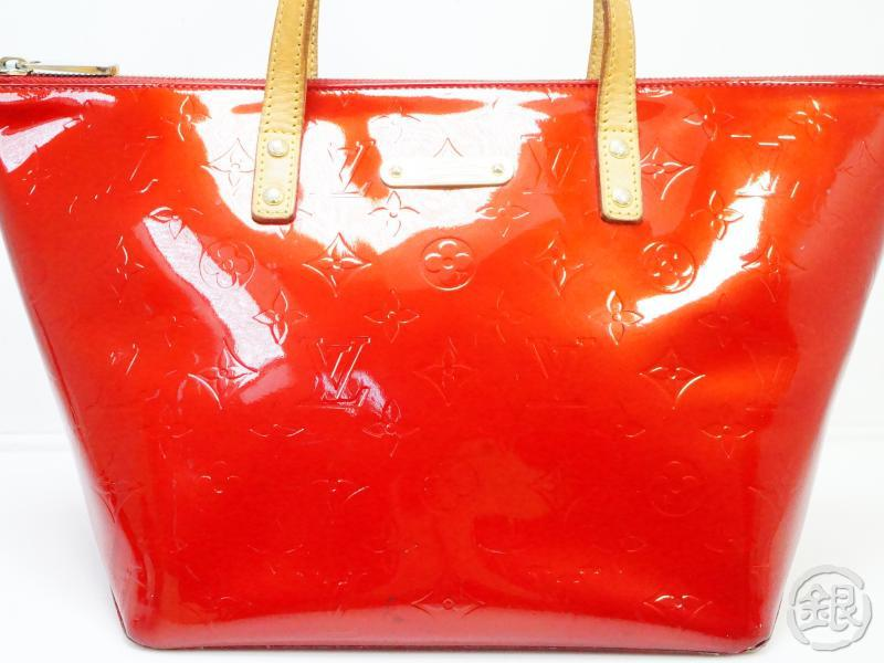 AUTHENTIC PRE-OWNED LOUIS VUITTON VERNIS POMME D'AMOUR RED BELLEVUE PM HAND TOTE BAG M93583 190319